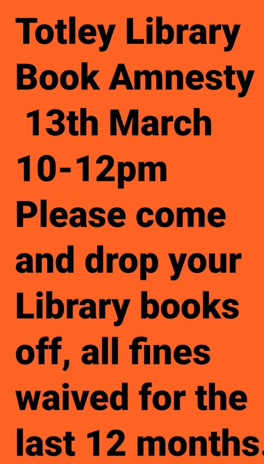 Totley Library Book Amnesty