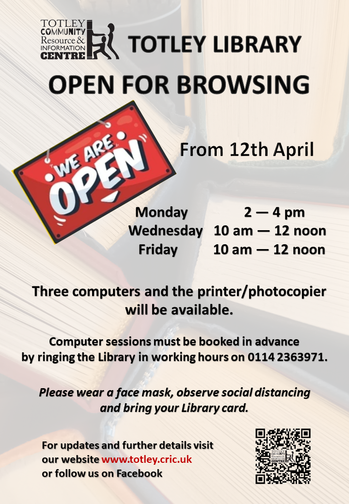 Totley Library Open for Browsing