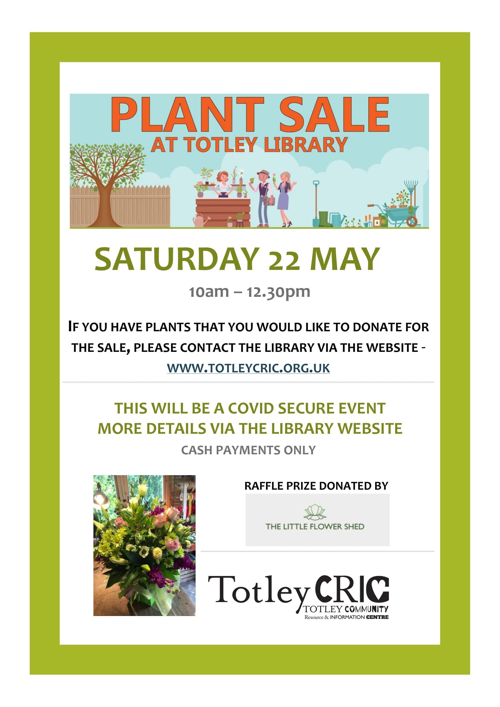Plant Sale at Totley Library